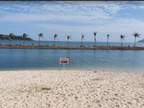 Bãi biển riêng của khu biệt thư An Viên